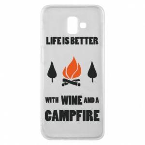 Etui na Samsung J6 Plus 2018 Wine and a campfire