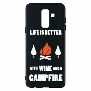 Etui na Samsung A6+ 2018 Wine and a campfire