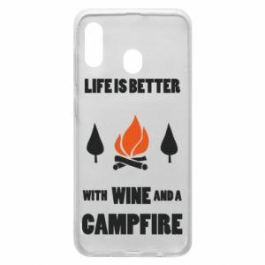 Etui na Samsung A20 Wine and a campfire