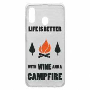 Etui na Samsung A30 Wine and a campfire