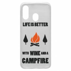 Etui na Samsung A40 Wine and a campfire