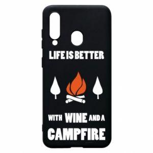 Etui na Samsung A60 Wine and a campfire