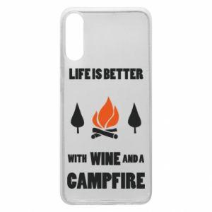 Etui na Samsung A70 Wine and a campfire