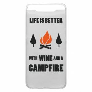 Etui na Samsung A80 Wine and a campfire