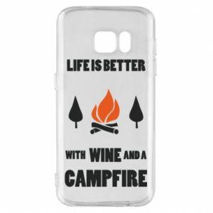 Etui na Samsung S7 Wine and a campfire
