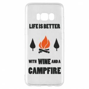 Etui na Samsung S8 Wine and a campfire