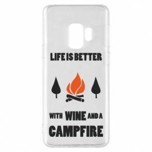 Etui na Samsung S9 Wine and a campfire