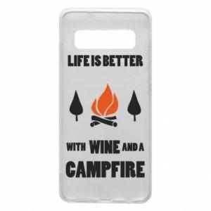 Etui na Samsung S10 Wine and a campfire