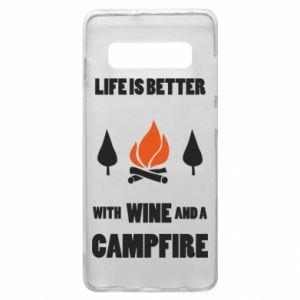 Etui na Samsung S10+ Wine and a campfire