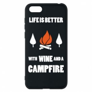 Etui na Huawei Y5 2018 Wine and a campfire