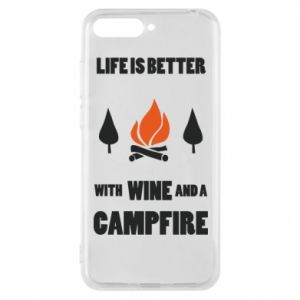 Etui na Huawei Y6 2018 Wine and a campfire