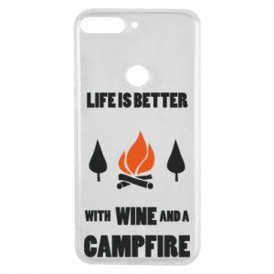 Etui na Huawei Y7 Prime 2018 Wine and a campfire