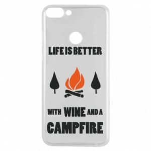 Etui na Huawei P Smart Wine and a campfire