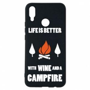 Etui na Huawei P Smart Plus Wine and a campfire
