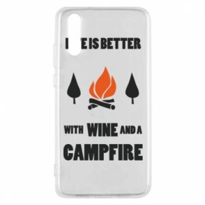 Etui na Huawei P20 Wine and a campfire