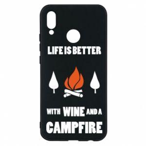 Etui na Huawei P20 Lite Wine and a campfire