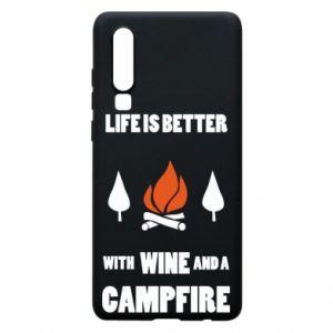 Etui na Huawei P30 Wine and a campfire