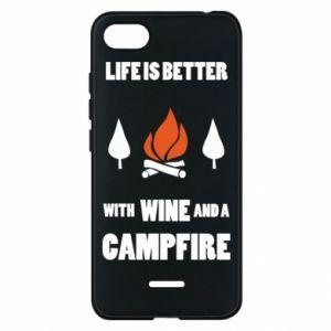 Etui na Xiaomi Redmi 6A Wine and a campfire