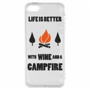 Etui na iPhone 5/5S/SE Wine and a campfire