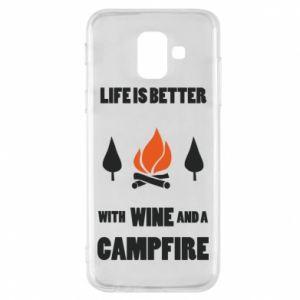 Etui na Samsung A6 2018 Wine and a campfire