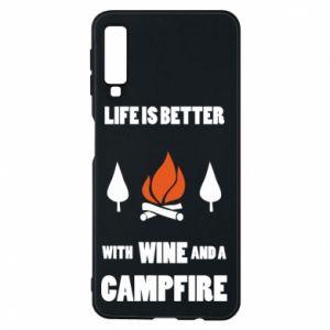 Etui na Samsung A7 2018 Wine and a campfire