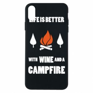 Etui na iPhone Xs Max Wine and a campfire