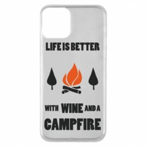Etui na iPhone 11 Wine and a campfire