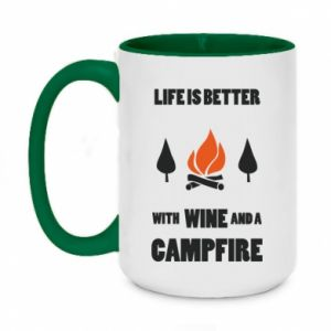 Two-toned mug 450ml Wine and a campfire