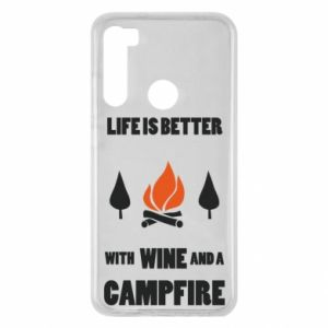 Xiaomi Redmi Note 8 Case Wine and a campfire
