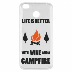 Xiaomi Redmi 4X Case Wine and a campfire