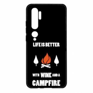 Xiaomi Mi Note 10 Case Wine and a campfire