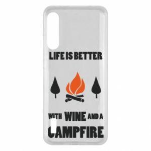 Xiaomi Mi A3 Case Wine and a campfire