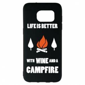 Samsung S7 EDGE Case Wine and a campfire