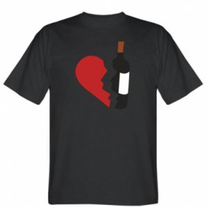T-shirt Wine broke my heart