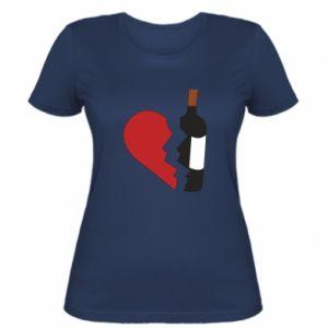 Damska koszulka Wine broke my heart