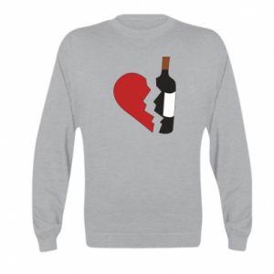 Bluza dziecięca Wine broke my heart