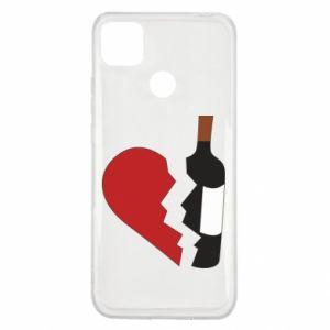 Etui na Xiaomi Redmi 9c Wine broke my heart