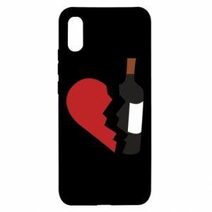 Etui na Xiaomi Redmi 9a Wine broke my heart