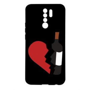 Etui na Xiaomi Redmi 9 Wine broke my heart