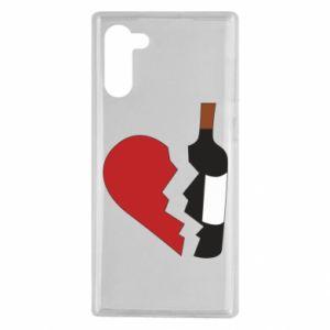 Etui na Samsung Note 10 Wine broke my heart