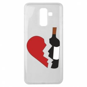 Etui na Samsung J8 2018 Wine broke my heart