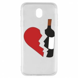 Etui na Samsung J7 2017 Wine broke my heart