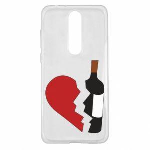 Etui na Nokia 5.1 Plus Wine broke my heart