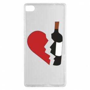 Etui na Huawei P8 Wine broke my heart
