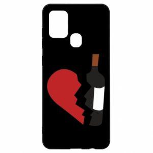 Etui na Samsung A21s Wine broke my heart