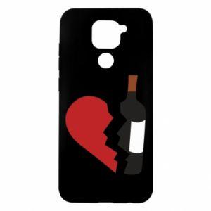 Etui na Xiaomi Redmi Note 9/Redmi 10X Wine broke my heart