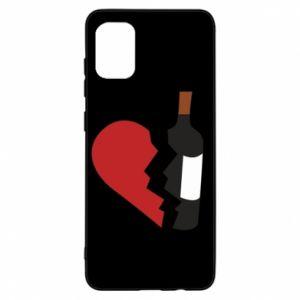 Etui na Samsung A31 Wine broke my heart