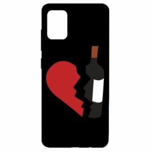 Etui na Samsung A51 Wine broke my heart