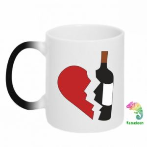 Chameleon mugs Wine broke my heart
