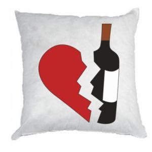 Poduszka Wine broke my heart
